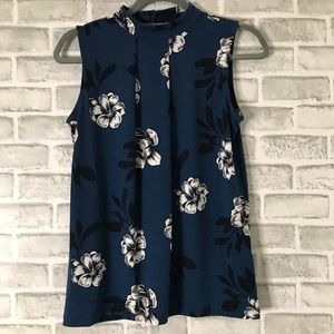 2/15 Banana Republic tank floral blouse